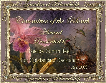 Committee of the Month - Award for Outstanding Dedication